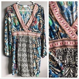 Bluetique • Multi Pattern Dress